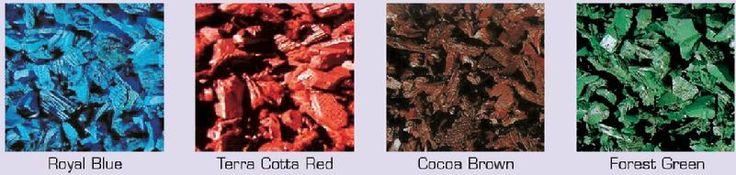 Colored Rubber Mulch Nuggets