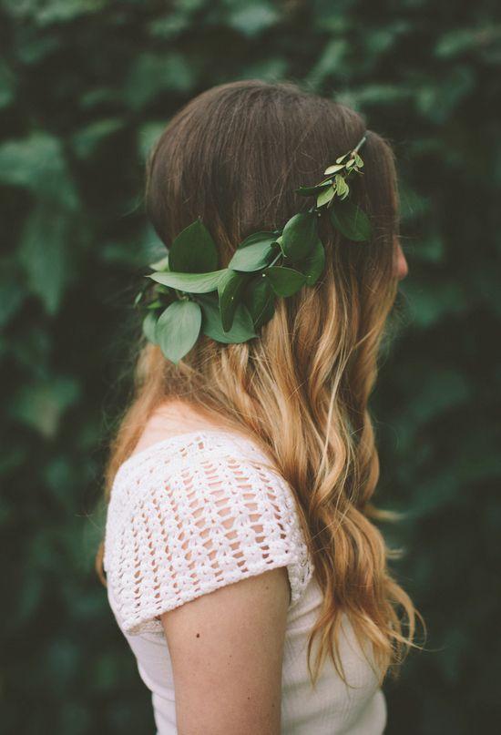 greenery crown   Photo by Paige Lowe
