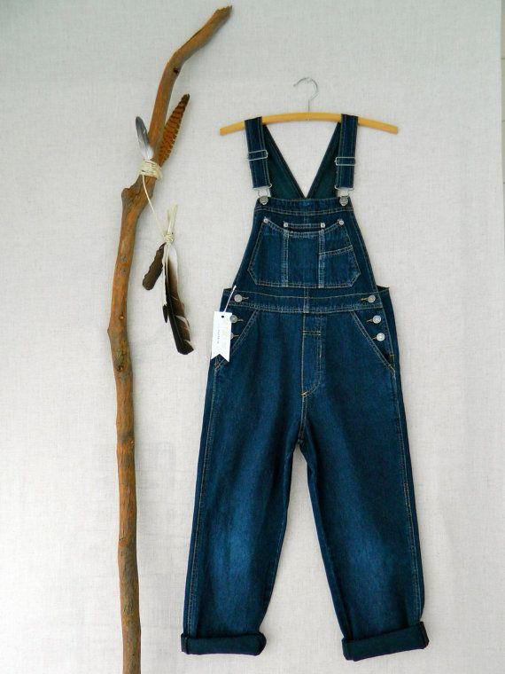 Vintage Kids Denim Overalls Dungarees . Just Jeans . size 8 / 10 . indigo blue . etsyau australian wandarrah oz au australia .