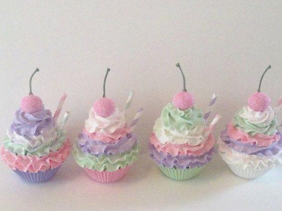Pastel Fake Cupcakes Photo Props Birthday by FakeCupcakeCreations, $42.00
