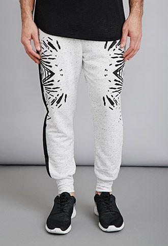 EPTM. Abstract Print Thermal Sweatpants | 21 MEN - 2000078113