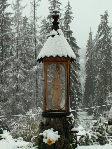 Zima w październiku - #MałeCiche. #dominikanie #klasztor