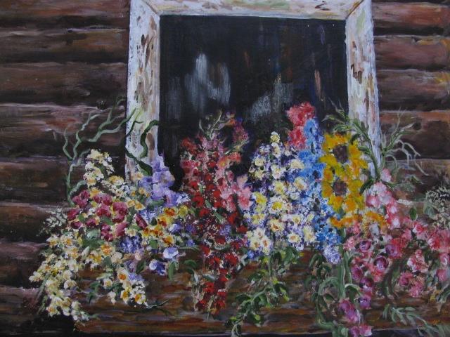 Mona's window,by Arlyn