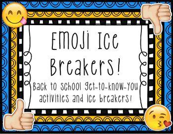 Emoji Ice Breaker Activities!
