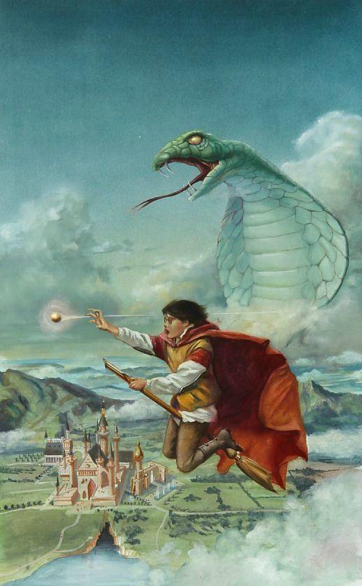 Per Jørgensen Orig. illustration Harry Potter og Hemmelighedernes Kammer Bruun