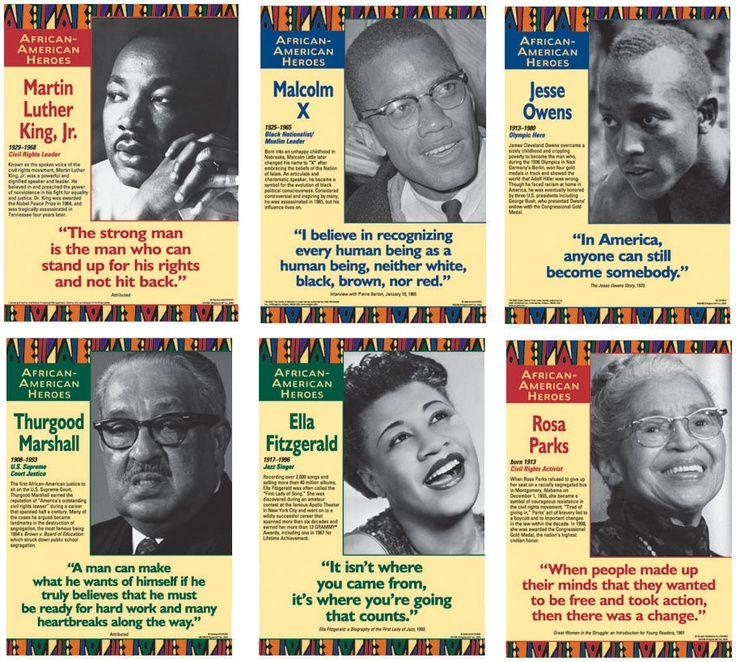 African Americans Heroes Poster Set School Pinterest