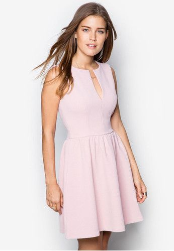 Collection V-Cut Fit And Flare Dress