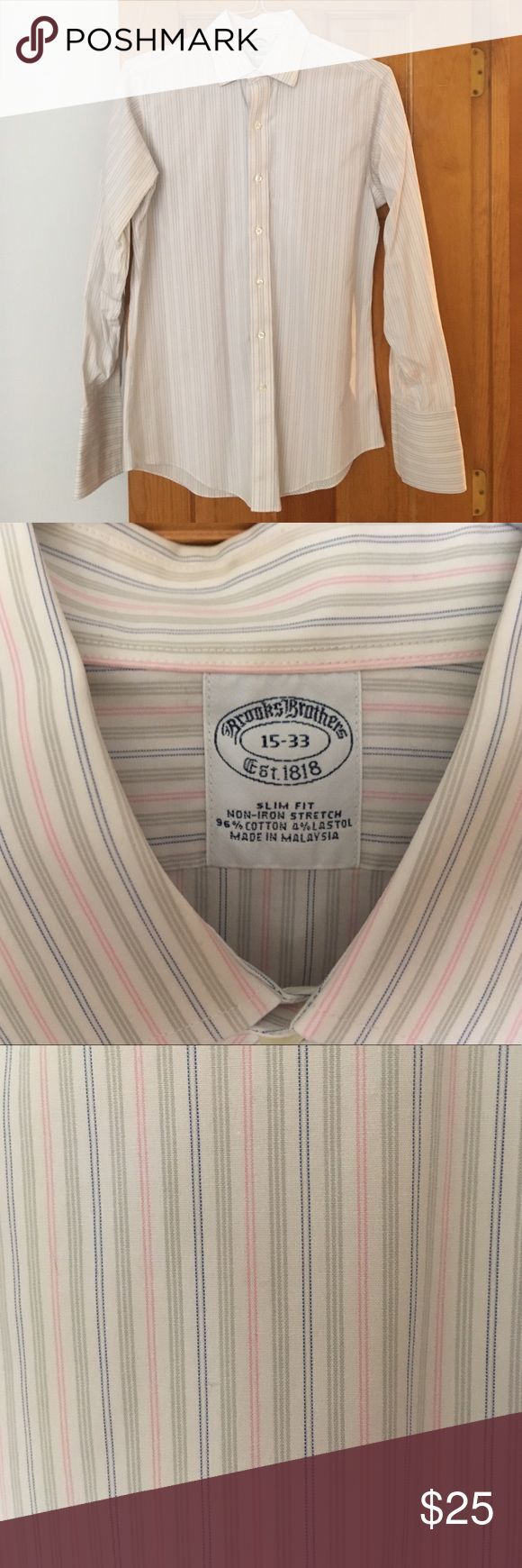 Brooks Brothers Slim Fit Non-iron dress shirt Brooks Brothers Slim Fit Non-iron dress shirt in excellent condition. Brooks Brothers Shirts Dress Shirts