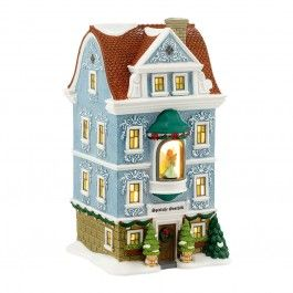Alpine Village - Spieluhr Geschaft | The sculpted accents surrounding each warmly lit window, dimensional angel figure and classic holiday decorations carry the atmosphere of a authentic Weihnachten (Christmas) in Bavaria to your Alpine Village display.
