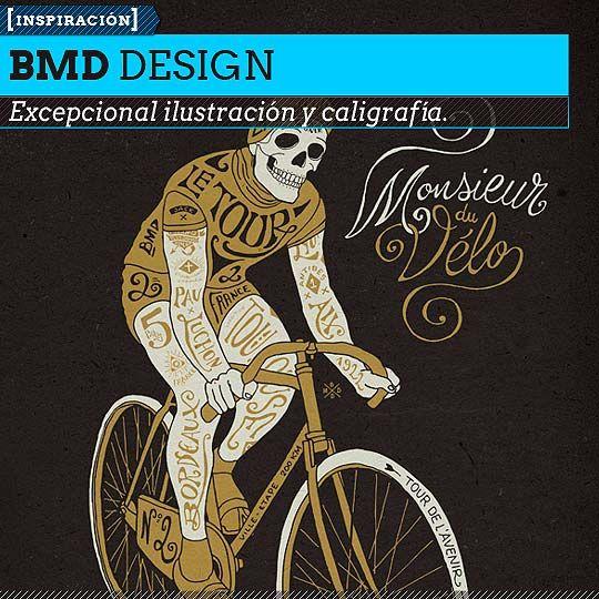 Ilustración y caligrafía retro de BMD DESIGN. Ilustración y caligrafía, caligrafía ilustrada y tendencia retro desde Francia.  Leer más: http://www.colectivobicicleta.com/2013/05/Tipografia-de-BMD-DESIGN.html#ixzz2Sd1K785D