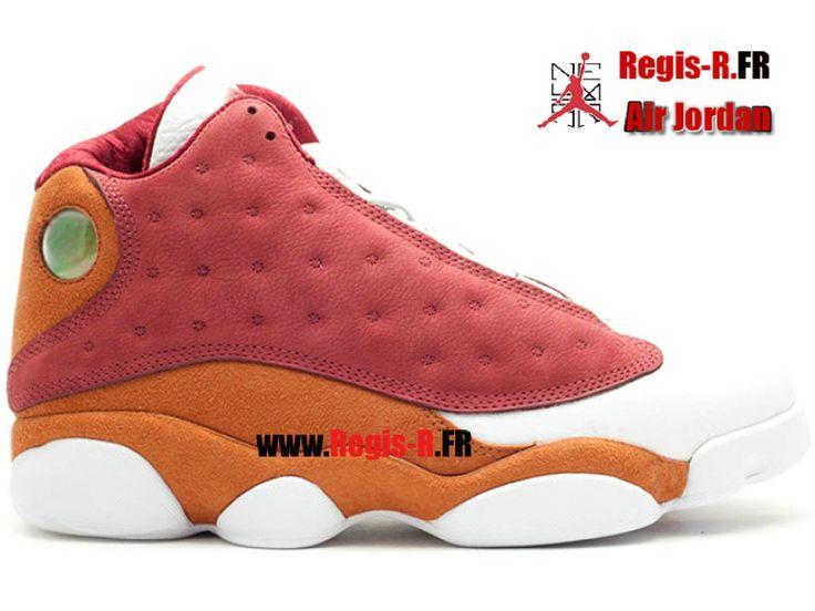 """Air Jordan Retro 13 Premio """"Bin23"""" - Chaussures Basket Jordan Pas Cher Pour Homme Equipe Rouge/Blanc 417212-601"""