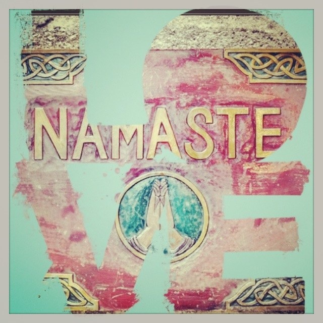 Namaste Loved and pinned by www.downdogboutique.com re-loved and re-pinned by www.yogatraveltree.com #findyouryoga #yoga
