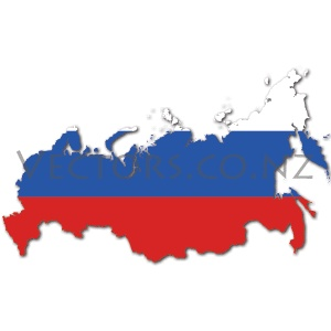 Flag Vector Map of the Russian Federation