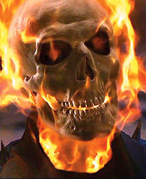 Ghost Rider (Nicholas Cage 2007 movie) face closeup