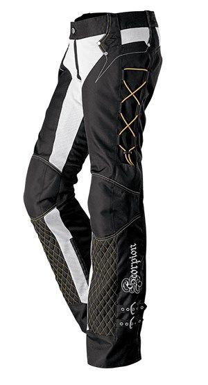 Scorpion Savannah Women's Textile Motorcycle Riding Pants - Black / Gold