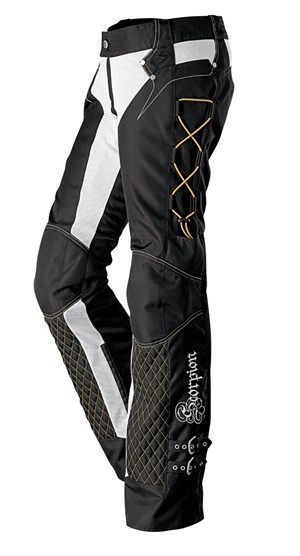 Scorpion Savannah Women's Textile Motorcycle Riding Pants - Black / Gold