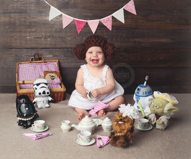 Star Wars Baby Photo Princess Leia Baby Star Wars Tea