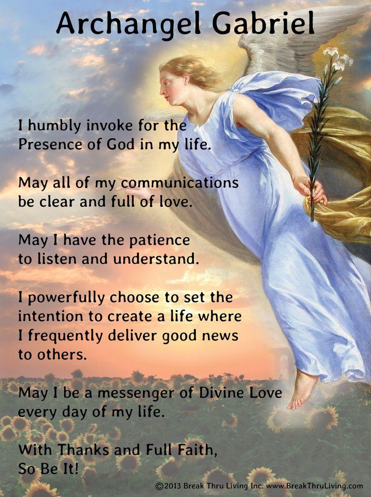 Angel - Gabriel - Prayer - Divine - Love - Strength - of - God