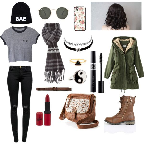 Cloudy day by lucywerta on Polyvore featuring polyvore fashion style J Brand MANGO Mudd Charlotte Russe Accessorize Ray-Ban Abercrombie & Fitch Rimmel