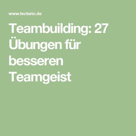 Team übungen kennenlernen