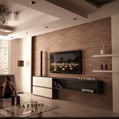 Wall Tv Units Family Room Design Ideas, Pictures, Remodel And Decor