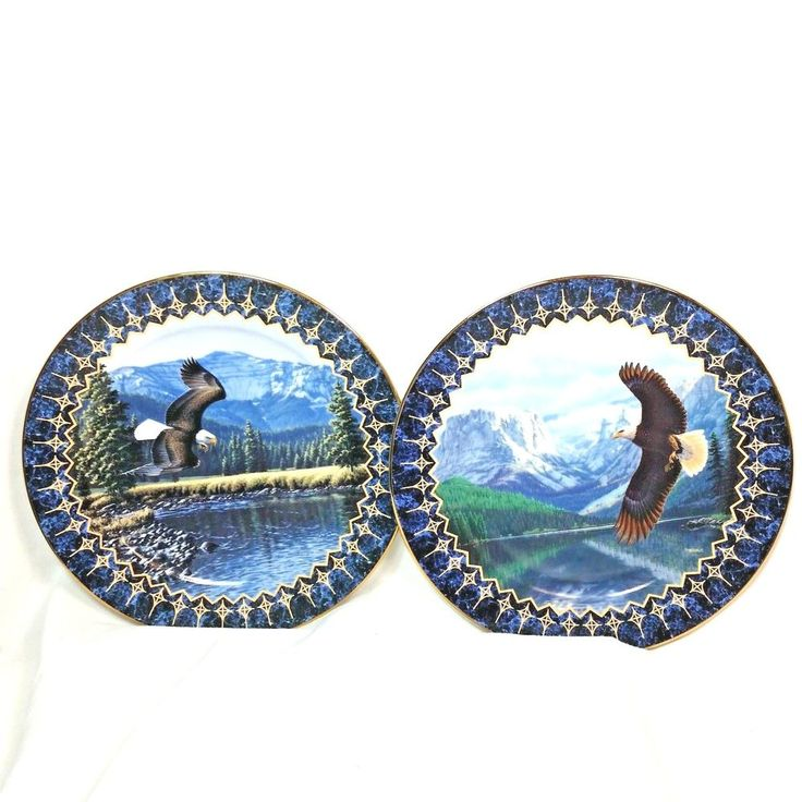 The Bradford Exchange LOT Of 2 Limited Edition Eagle Collector Plates 1994 #BradfordExchange