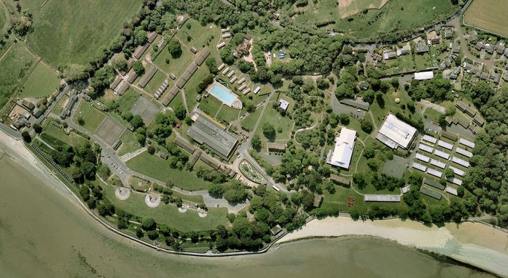 Recent aerial view of the now-closed Harcourt Sands Holiday Camp on the Isle of Wight. Originally this was two separate Warners holiday camps - St Clare (on the right) and Puckpool (left). Puckpool was built first (in the 1930s) on land that was previously the estate of Puckpool House (the house still survives today). The camp was requisitioned during the war and became known as HMS Medina. It was taken over by Warners in the late 1940s. In 1972 the camp featured in the cult movie…