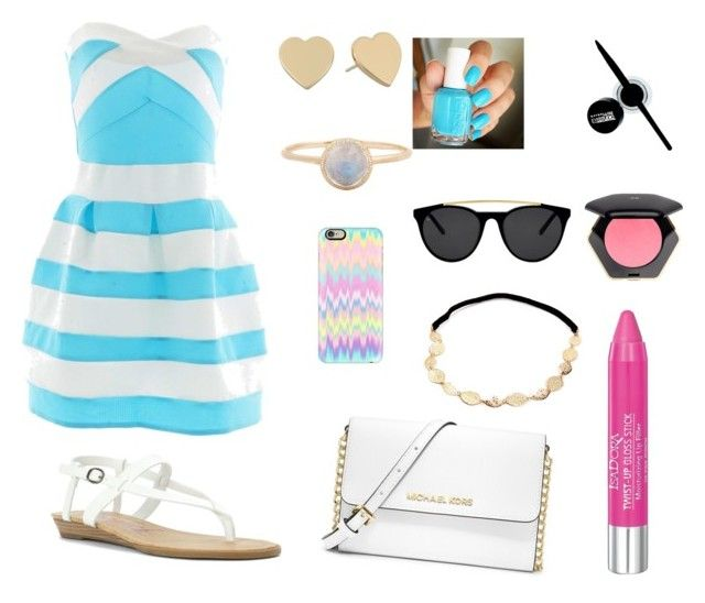 Sin título #26 by ymerly15 on Polyvore featuring polyvore fashion style Blowfish MICHAEL Michael Kors Kate Spade Casetify Smoke x Mirrors Isadora H&M Maybelline Essie clothing