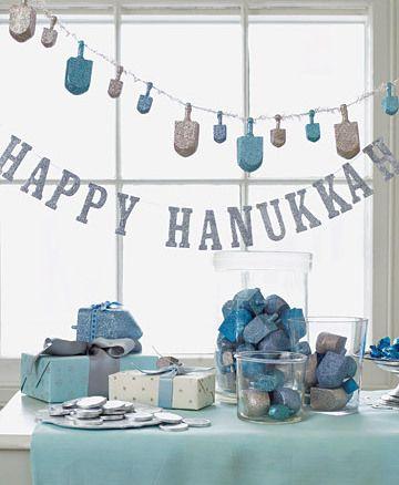 Happy Hanukkah decorations