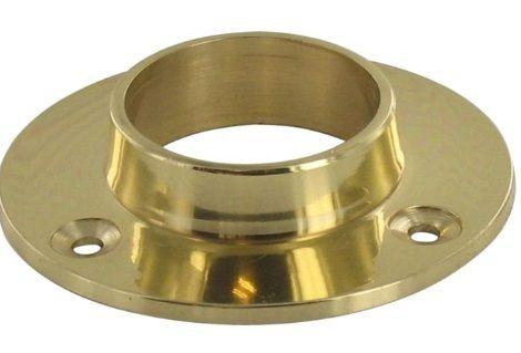 Schrankrohrlager 25 mm Messing poliert