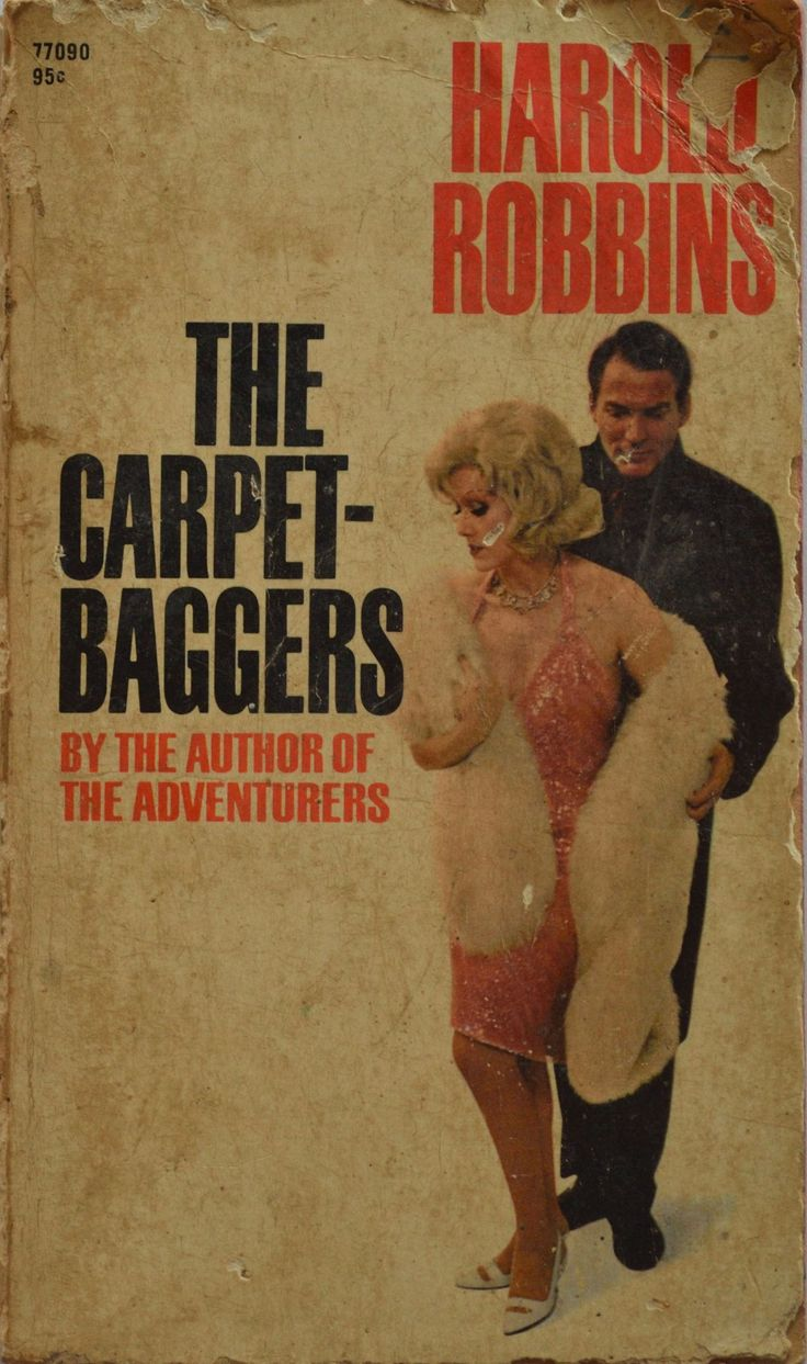 The Carpetbaggers: A turbulent, explosive novel of men and women who always took more than they gave.   Jonas Cord was relentlessly driven by the ghost of a harsh and demanding father. Rina Marlowe, motion picture goddess, brought a new concept of sex to the screen but had to destroy every man who loved her. http://www.dogearsetc.com/books/The-Carpetbaggers/690