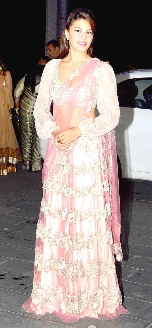 Jacqueline Fernandez at Shirin Morani's wedding reception. #Bollywood #Fashion #Style #Beauty