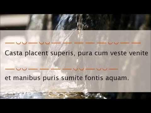 Casta placent superis - Tibullus 2.1 - YouTube
