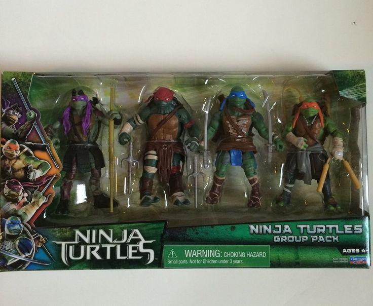 Playmates 2014 Teenage Mutant Ninja Turtles Movie Exclusive 4 figure group Pack…