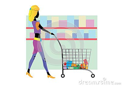vector Shopping woman illustration fashion girl lady flat Women shopping bag clipart eps shop clipart design eps black friday vector sale eps shopoholic image drawing shop people digital download