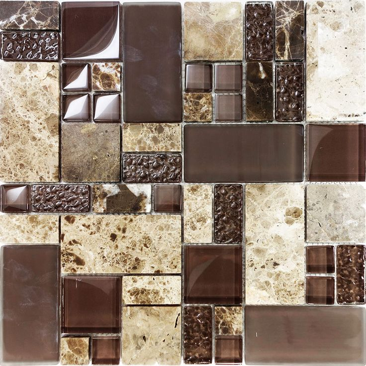 Sample Natural Brown Stone Glass Mosaic Tile Kitchen: 25+ Best Ideas About Glass Mosaic Tiles On Pinterest