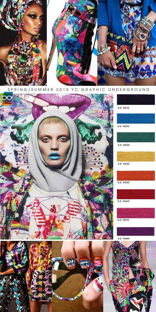 Spring Summer 2015, women's color trend report, graphic underground
