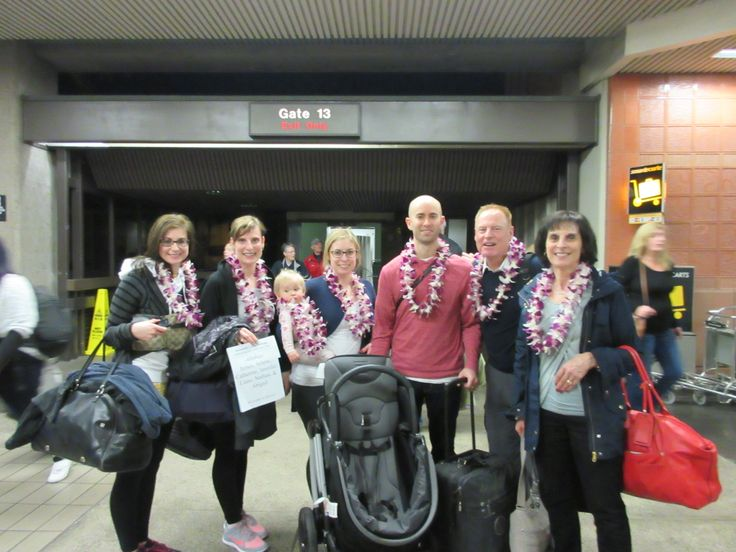 9 best lei greeting stories images on pinterest floral wreath hawaii james arlene catherine jennifer liane nathan and the cutest keiki ever catherine surprised her family of 6 with a surprise lei greeting m4hsunfo