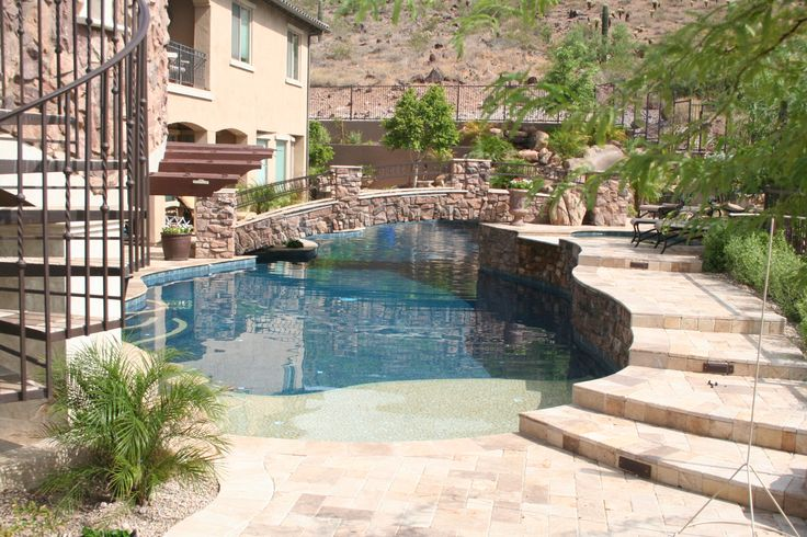 37 Best Swimming Pool Waterfalls Images On Pinterest