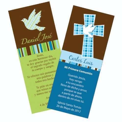 Tarjetas de recuerdo para primera comunion bautizo 2200 - Hacer tarjetas de comunion ...