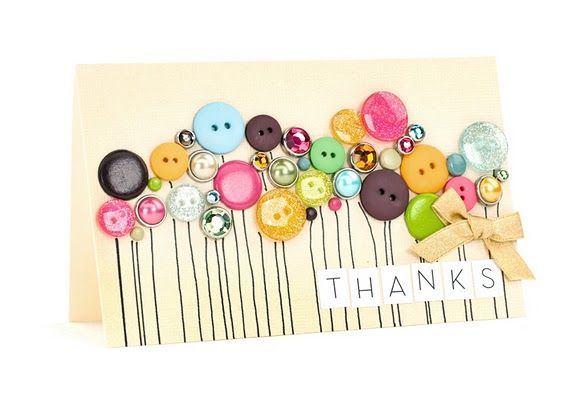 What a lovely way to use buttons <3      Gorgeous use of gems and buttons =)