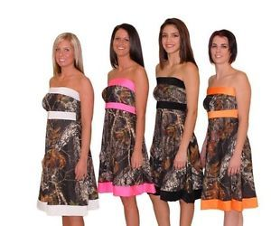 Camo Wedding Bridesmaid Dresses | Camo Strapless Formal Dress Mossy Oak Break Up Prom Bridesmaid Wedding ...