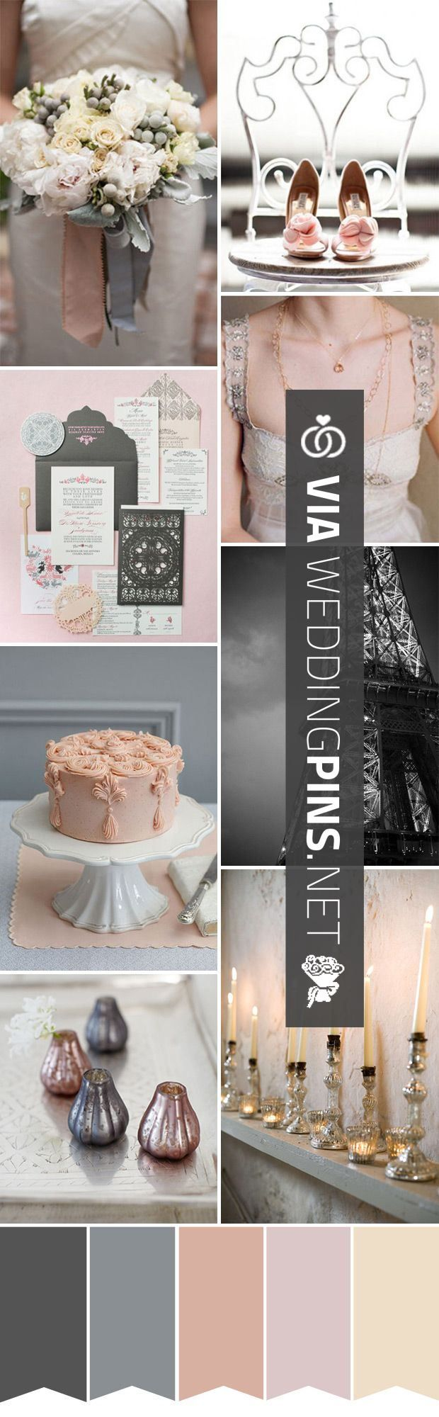 So cool - Wedding Colour Schemes 2017 - Chic French wedding inspiration - pale…