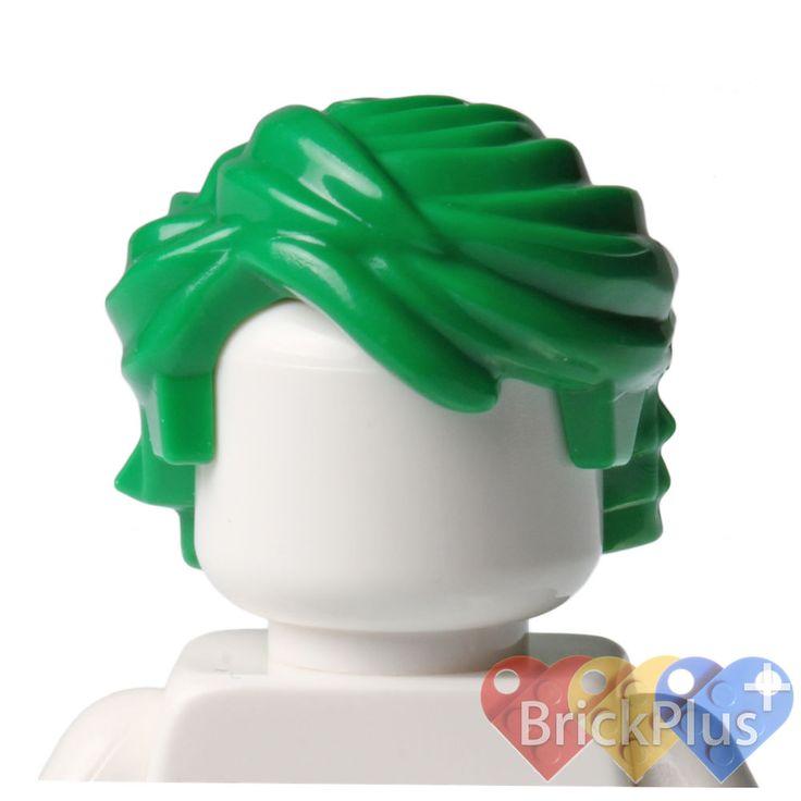 Lego Green Short Tousled Joker Hair City Villain Batman 76023 Minifigure NEW #LEGO