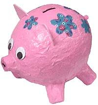 The famous paper mâché  piggy bank has got to be the ultimate beginners' kids craft for this material. It's quick and easy to make and uses everyday household materials. Furthermore, ideas for deco...