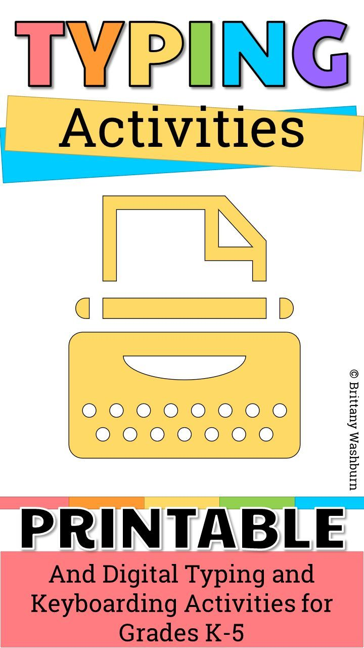 Typing activities for elementary students that are available