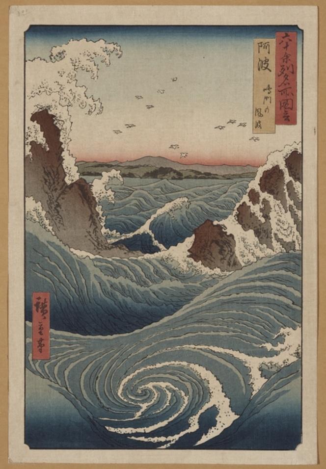 Ando Hiroshige, 1797-1858 :[Awa, Naruto Whirlpools. ca 1855]