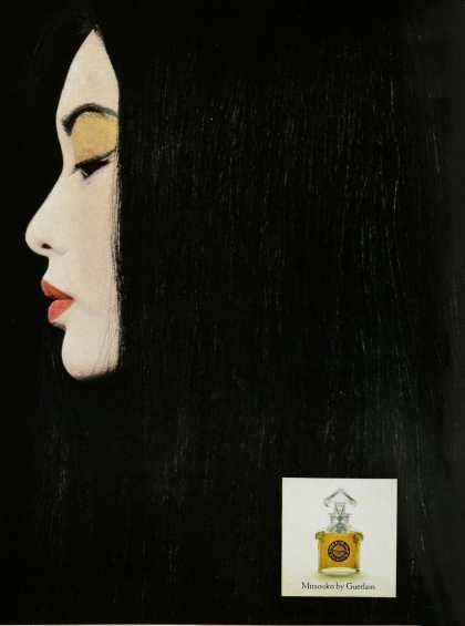 1960  Advertisement  Mitsouko by Guerlain  Paris  Vintage Perfume Ads of the 1960s  http://www.vintageadbrowser.com