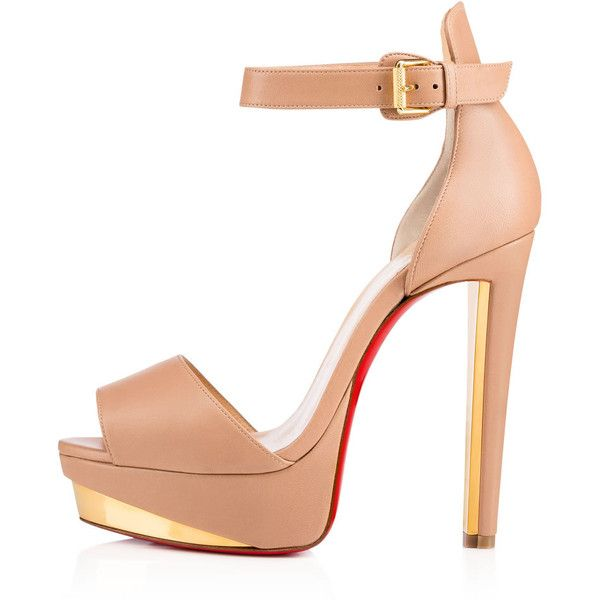 Women Platforms Shoes - Christian Louboutin Online Boutique (2.775 BRL) ❤ liked on Polyvore featuring shoes, platform shoes, high heel shoes, high heel platform shoes, dorsay shoes and nude platform shoes