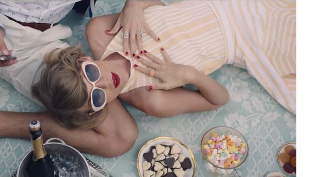 Taylor Swift's yellow picnic dress from the Blank Space music video